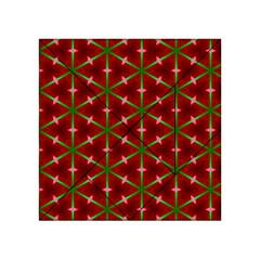 Textured Background Christmas Pattern Acrylic Tangram Puzzle (4  X 4 )