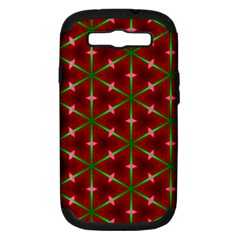 Textured Background Christmas Pattern Samsung Galaxy S Iii Hardshell Case (pc+silicone)