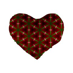 Textured Background Christmas Pattern Standard 16  Premium Heart Shape Cushions