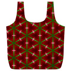 Textured Background Christmas Pattern Full Print Recycle Bags (l)