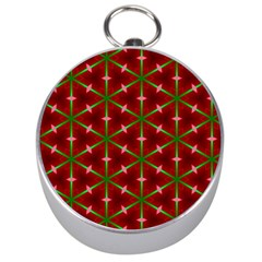 Textured Background Christmas Pattern Silver Compasses