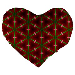 Textured Background Christmas Pattern Large 19  Premium Flano Heart Shape Cushions