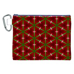 Textured Background Christmas Pattern Canvas Cosmetic Bag (xxl)