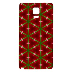 Textured Background Christmas Pattern Galaxy Note 4 Back Case