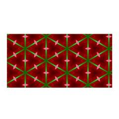 Textured Background Christmas Pattern Satin Wrap