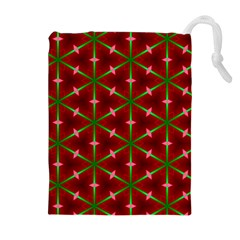 Textured Background Christmas Pattern Drawstring Pouches (extra Large)