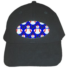 Seamless Repeat Repeating Pattern Black Cap