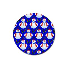 Seamless Repeat Repeating Pattern Rubber Round Coaster (4 Pack)