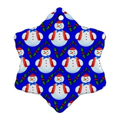 Seamless Repeat Repeating Pattern Snowflake Ornament (two Sides)