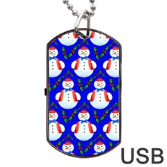 Seamless Repeat Repeating Pattern Dog Tag Usb Flash (one Side)