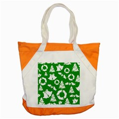 Green White Backdrop Background Card Christmas Accent Tote Bag
