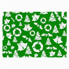 Green White Backdrop Background Card Christmas Large Glasses Cloth