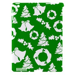 Green White Backdrop Background Card Christmas Apple Ipad 3/4 Hardshell Case (compatible With Smart Cover)