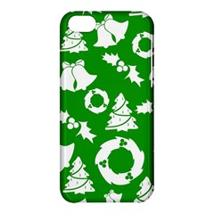 Green White Backdrop Background Card Christmas Apple Iphone 5c Hardshell Case