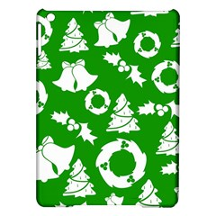 Green White Backdrop Background Card Christmas Ipad Air Hardshell Cases