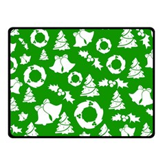 Green White Backdrop Background Card Christmas Double Sided Fleece Blanket (small)