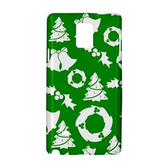 Green White Backdrop Background Card Christmas Samsung Galaxy Note 4 Hardshell Case