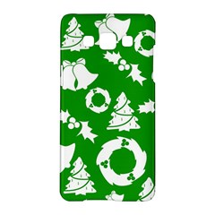 Green White Backdrop Background Card Christmas Samsung Galaxy A5 Hardshell Case