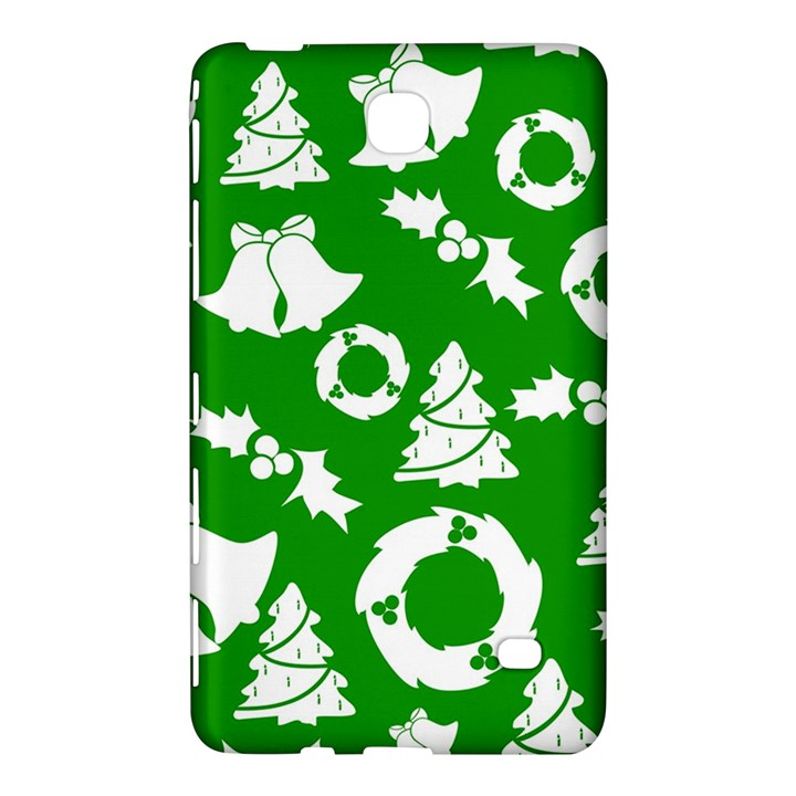 Green White Backdrop Background Card Christmas Samsung Galaxy Tab 4 (8 ) Hardshell Case