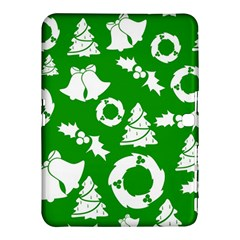 Green White Backdrop Background Card Christmas Samsung Galaxy Tab 4 (10 1 ) Hardshell Case
