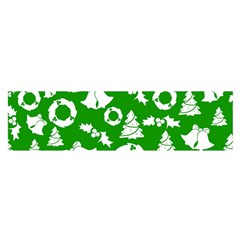 Green White Backdrop Background Card Christmas Satin Scarf (oblong)
