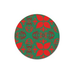 Christmas Background Magnet 3  (round)