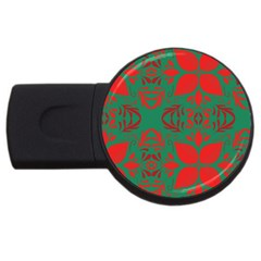 Christmas Background Usb Flash Drive Round (2 Gb)