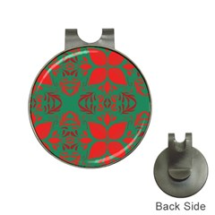 Christmas Background Hat Clips With Golf Markers