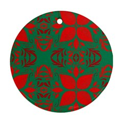 Christmas Background Round Ornament (two Sides)