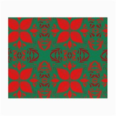 Christmas Background Small Glasses Cloth (2 Side)