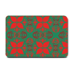 Christmas Background Small Doormat