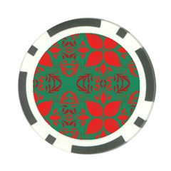 Christmas Background Poker Chip Card Guard