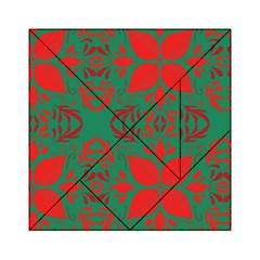Christmas Background Acrylic Tangram Puzzle (6  X 6 )