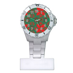 Christmas Background Plastic Nurses Watch