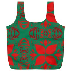 Christmas Background Full Print Recycle Bags (l)