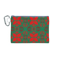 Christmas Background Canvas Cosmetic Bag (m)