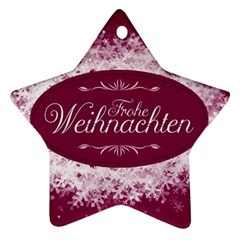 Christmas Card Red Snowflakes Ornament (star)