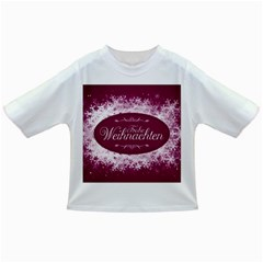 Christmas Card Red Snowflakes Infant/toddler T Shirts