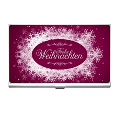 Christmas Card Red Snowflakes Business Card Holders