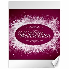 Christmas Card Red Snowflakes Canvas 18  X 24
