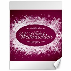 Christmas Card Red Snowflakes Canvas 36  X 48