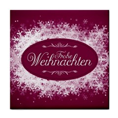 Christmas Card Red Snowflakes Face Towel