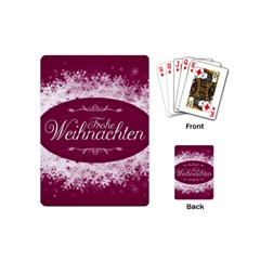 Christmas Card Red Snowflakes Playing Cards (mini)