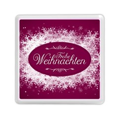 Christmas Card Red Snowflakes Memory Card Reader (square)
