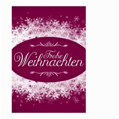 Christmas Card Red Snowflakes Small Garden Flag (two Sides)