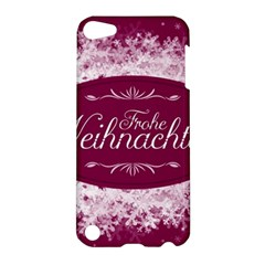 Christmas Card Red Snowflakes Apple Ipod Touch 5 Hardshell Case