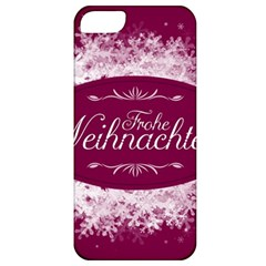 Christmas Card Red Snowflakes Apple Iphone 5 Classic Hardshell Case