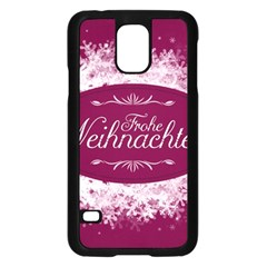 Christmas Card Red Snowflakes Samsung Galaxy S5 Case (black)