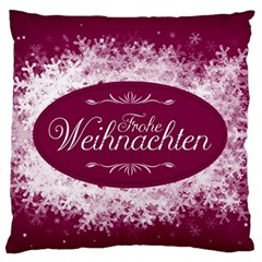Christmas Card Red Snowflakes Standard Flano Cushion Case (one Side)