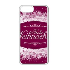 Christmas Card Red Snowflakes Apple Iphone 8 Plus Seamless Case (white)